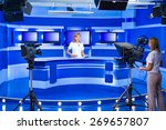 television announcer at studio... | Shutterstock . vector #269657807