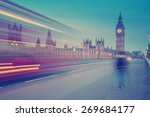 London Landmark Big Ben At...