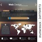 menu design for web site with...