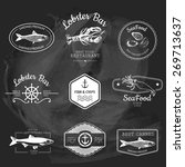 logo set for seafood restaurant ... | Shutterstock .eps vector #269713637