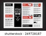 restaurant cafe menu  template... | Shutterstock .eps vector #269728187