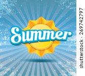beautiful summer illustrations .... | Shutterstock .eps vector #269742797
