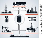 oil and gas industry icons.... | Shutterstock .eps vector #269742983
