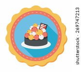 fruit tart flat icon with long... | Shutterstock .eps vector #269747213