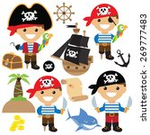 pirate vector illustration | Shutterstock .eps vector #269777483