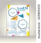 flyer  brochure or magazine... | Shutterstock .eps vector #269805353