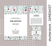 vector set of invitation cards... | Shutterstock .eps vector #269826437