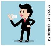 businessman show name card... | Shutterstock .eps vector #269833793