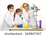 teens and teacher of chemistry... | Shutterstock . vector #269847347