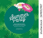 summer party invitation card... | Shutterstock .eps vector #269852987