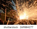 industrial worker cutting and... | Shutterstock . vector #269884277