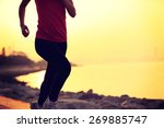 fitness woman running at... | Shutterstock . vector #269885747