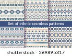 set of six ethnic seamless... | Shutterstock .eps vector #269895317