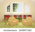 colorful playroom interior. 3d... | Shutterstock . vector #269897183