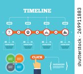 timeline with arrows and quotes.... | Shutterstock .eps vector #269911883