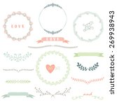 laurels wreath collection | Shutterstock .eps vector #269938943