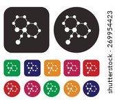 atom icon   science icon | Shutterstock .eps vector #269954423
