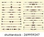 set of decorative calligraphic... | Shutterstock .eps vector #269959247