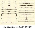 set of decorative calligraphic... | Shutterstock .eps vector #269959247