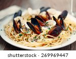 seafood spaghetti | Shutterstock . vector #269969447