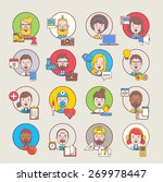 male and female avatars with... | Shutterstock .eps vector #269978447