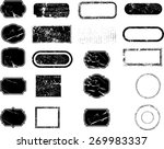 set of grunge rubber texture... | Shutterstock .eps vector #269983337