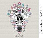 animal illustration  aztec... | Shutterstock .eps vector #269984777