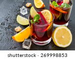 Sangria In Glasses With...