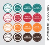 price match label vector... | Shutterstock .eps vector #270004097