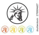Statue Of Liberty Icon  Vector...
