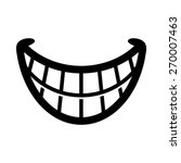 big happy toothy cartoon smile... | Shutterstock .eps vector #270007463