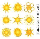 set of sun vector | Shutterstock .eps vector #270017033