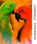 original pastel painting on... | Shutterstock . vector #270018317