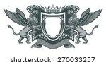 heraldic lions silver victorian ... | Shutterstock .eps vector #270033257