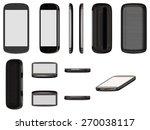 modern black smart phone... | Shutterstock . vector #270038117