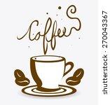 coffee design over white... | Shutterstock .eps vector #270043367