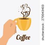 coffee design over white... | Shutterstock .eps vector #270043403