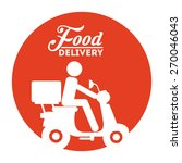 food delivery design  vector... | Shutterstock .eps vector #270046043