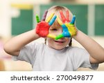 child  education  human hand. | Shutterstock . vector #270049877