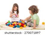 Two Little Kids Playing With...