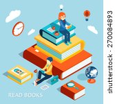 read books concept. education... | Shutterstock . vector #270084893