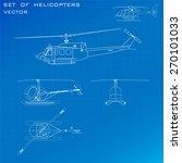vector set of helicopters | Shutterstock .eps vector #270101033