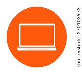 laptop icon. flat design style. ...