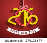 happy new year 2016 greeting... | Shutterstock .eps vector #270138677