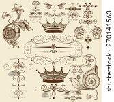 vector set of calligraphic... | Shutterstock .eps vector #270141563