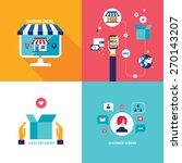 online shopping e commerce... | Shutterstock .eps vector #270143207