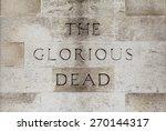 The Glorious Dead Inscription...