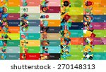 mega collection of vector flat... | Shutterstock .eps vector #270148313