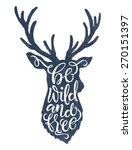 vector illustration of deer... | Shutterstock .eps vector #270151397