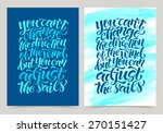vector set of calligraphic... | Shutterstock .eps vector #270151427